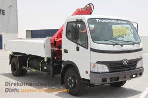 Gambar Foto Modifikasi Truk Dyna Menjadi Crane Truck