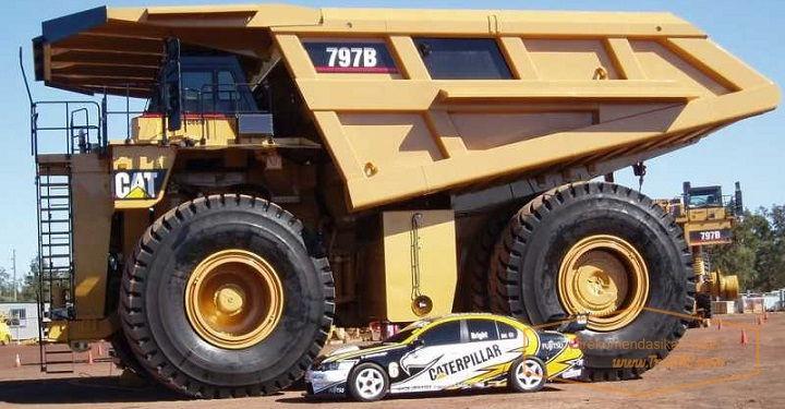 Gambar Foto Harga Mobil Truk Terbesar di Dunia Caterpillar 797B