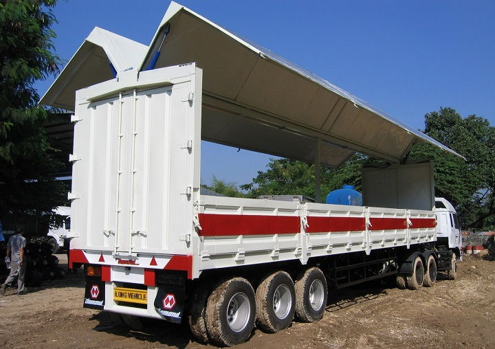 Gambar Foto Jenis Mobil Truk Besar Bak Wing Box