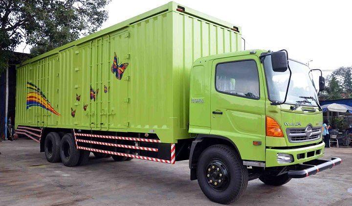 Gambar Foto Jenis Mobil Truk Besar Box Tertutup