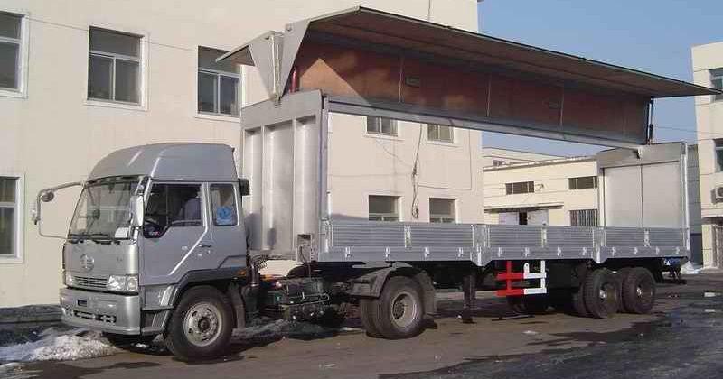 Gambar Foto Jenis Mobil Truk Besar Wing Box Modern