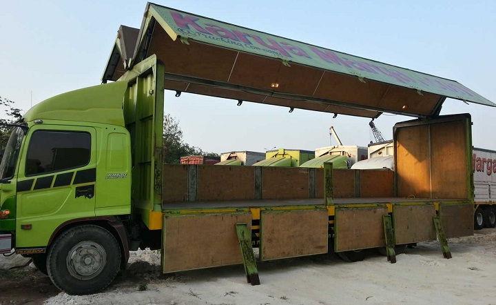 Gambar Foto Jenis Mobil Truk Besar Wing Box Panjang