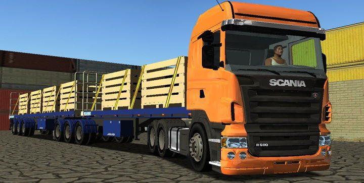 Gambar Foto Mobil Truk Besar Gandeng Scania
