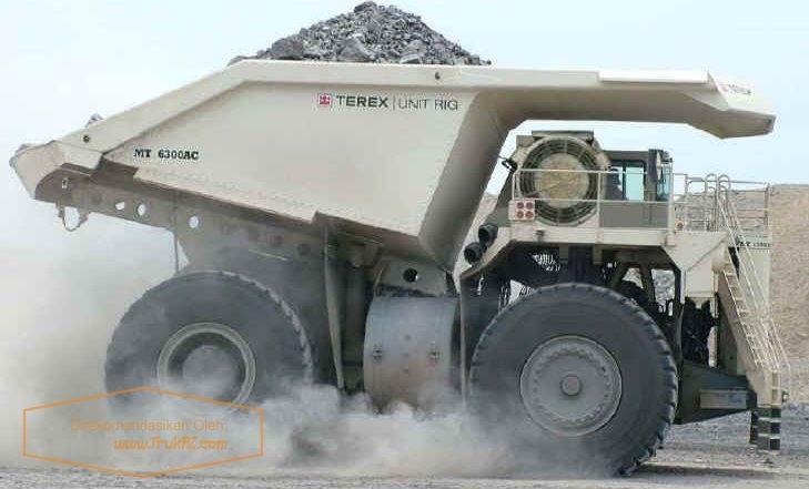 Gambar Foto Mobil Truk Terbesar di Dunia Bucyrus MT 6300AC