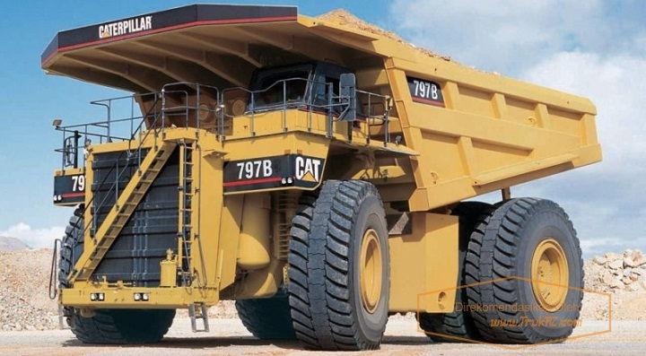 Gambar Foto Penampakan Mobil Truk Terbesar di Dunia Caterpillar 797B