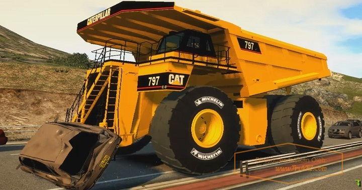 Gambar Foto Spesifikasi Mobil Truk Terbesar di Dunia Caterpillar 797B