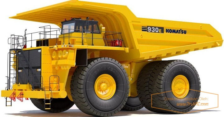 Gambar Foto Spesifikasi Mobil Truk Terbesar di Dunia Komatsu 930E-3SE