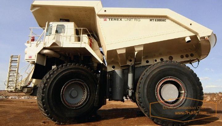 Gambar Foto Tenaga Mesin Mobil Truk Terbesar di Dunia Bucyrus MT 6300AC