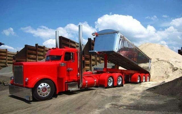 Gambar Foto Truk Besar Modifikasi - Dump Truck Panjang